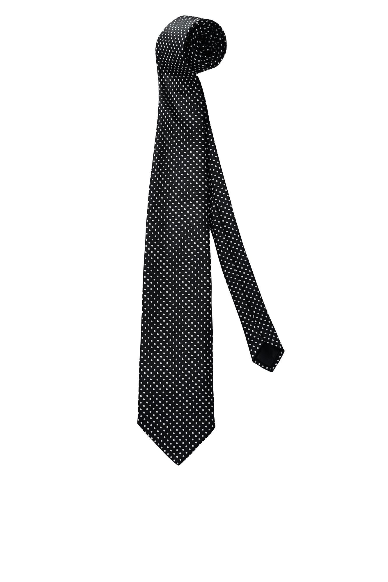 Kravata Punkte - černá/bílá