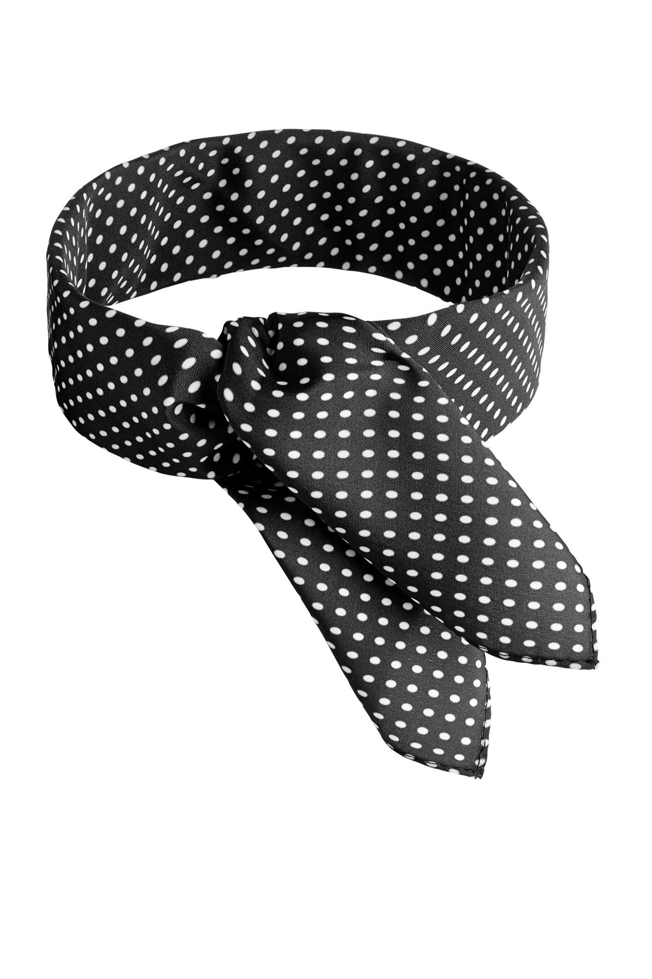 Šátek Punkte - černý/bílý