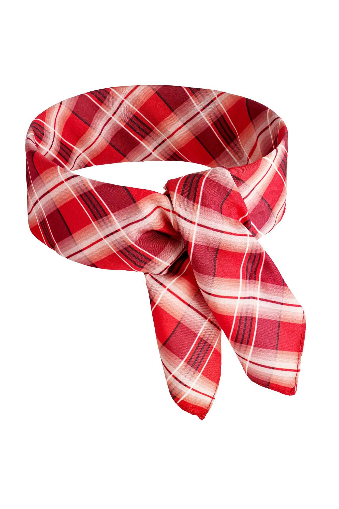 Šátek Karostreifen - červený