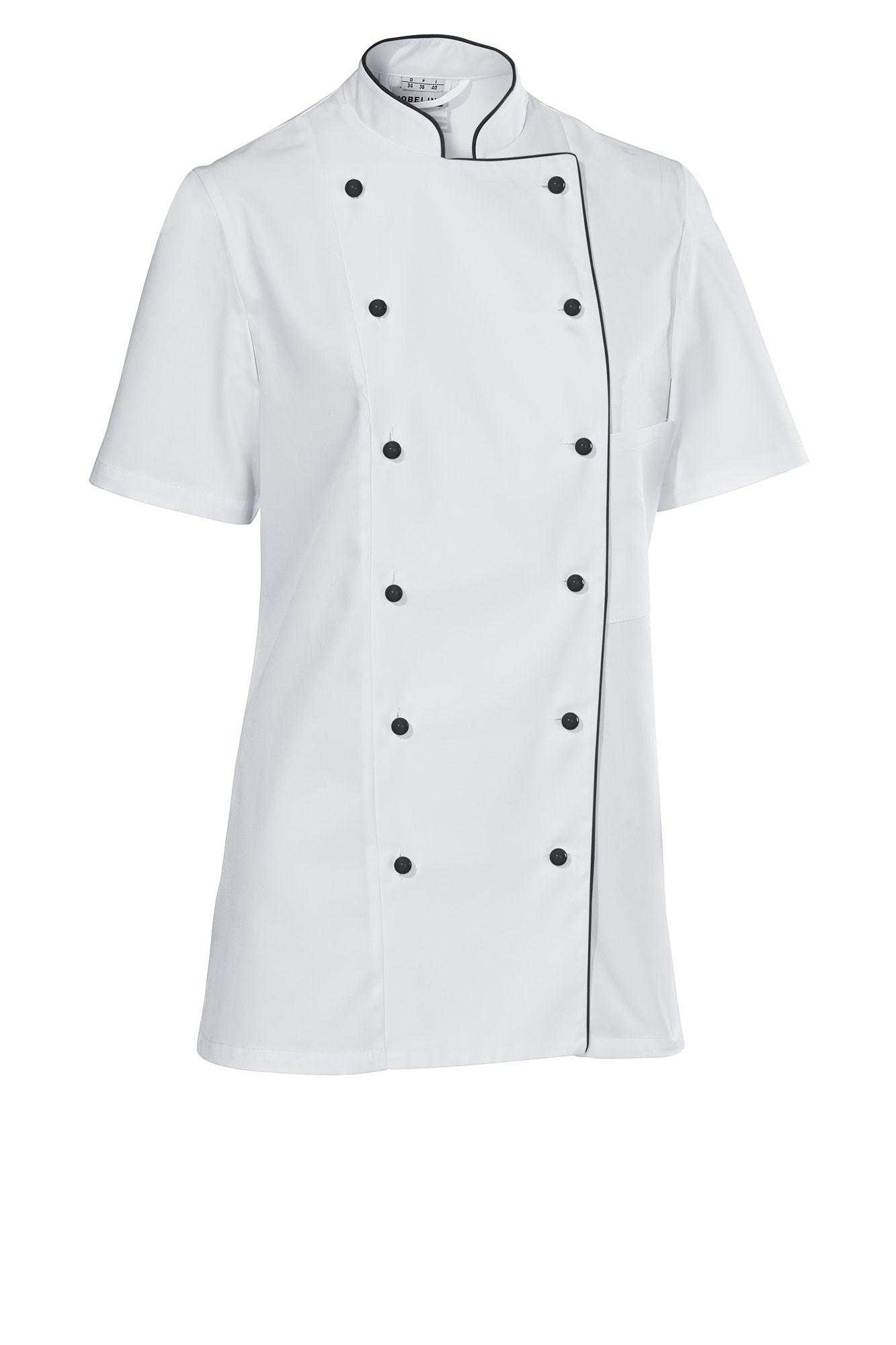 Premium Chef dámský - krátký rukáv - bílá/černá