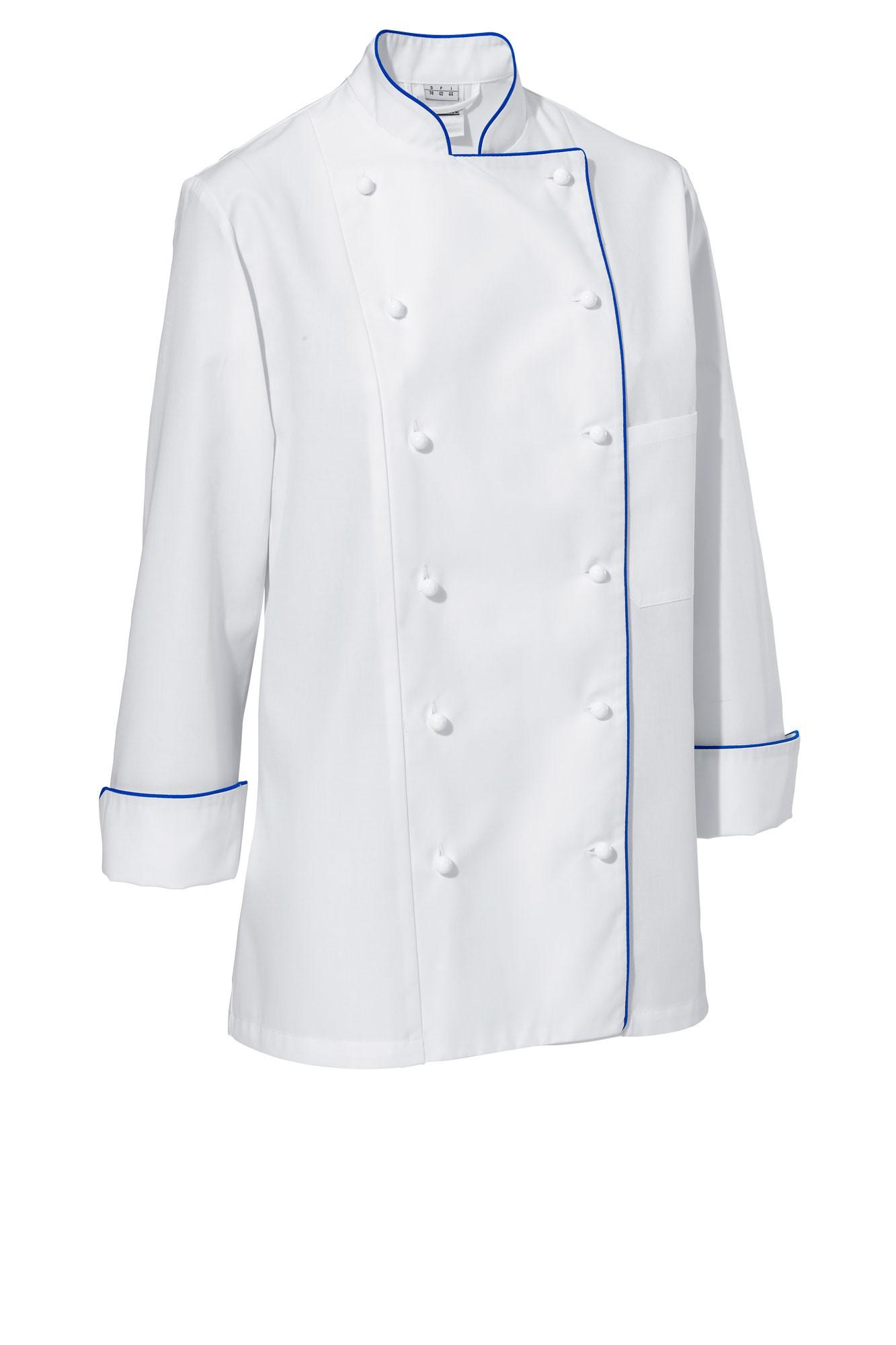 Rondon Aila - dlouhý rukáv - bílá/modré lemování