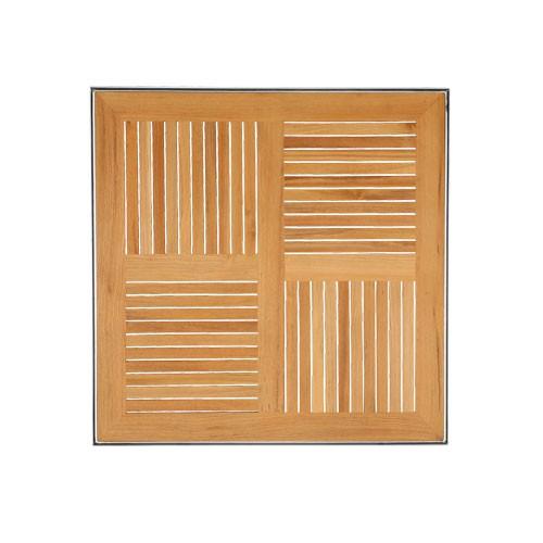 Teaková stolová deska s rámem