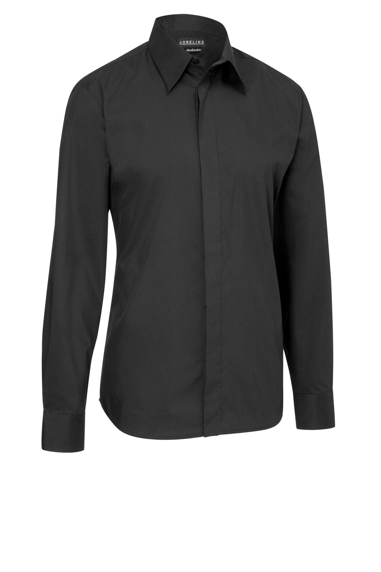 Pánská košile Noah - černá/dlouhý rukáv