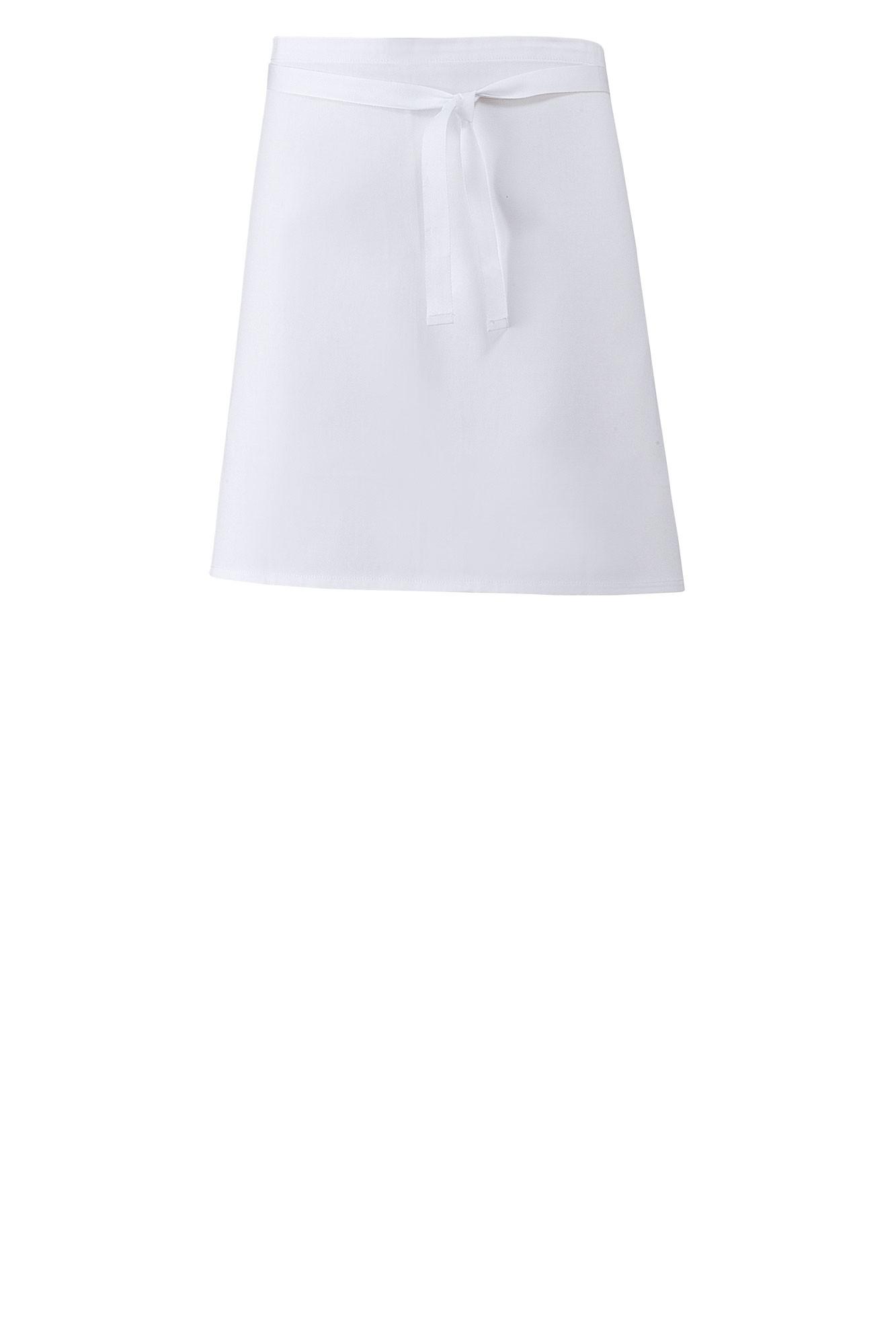 Zástěra Nikita - bílá, 45x80 cm