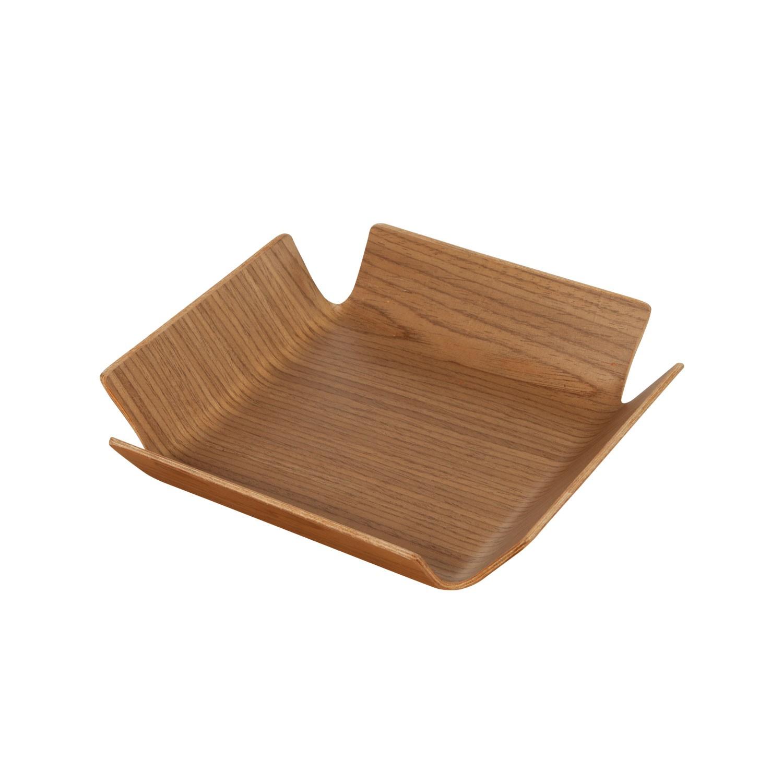 Košík na pečivo Apoti, 21x21 cm - ořech