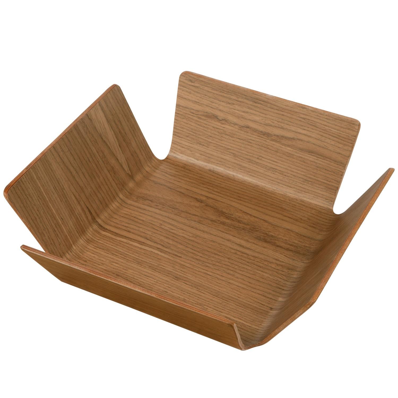Košík na pečivo Apoti, 29x29 cm - ořech