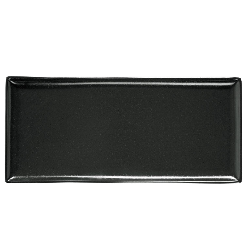 Podnos obdélníkový Masca, 35x16 cm - černá