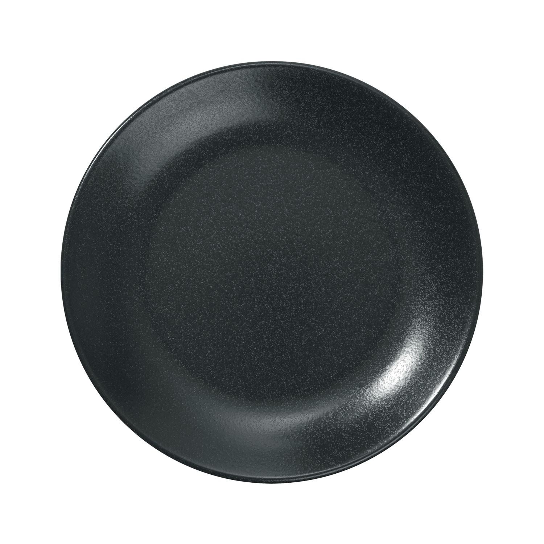Talíř plochý Masca, 24 cm - černá