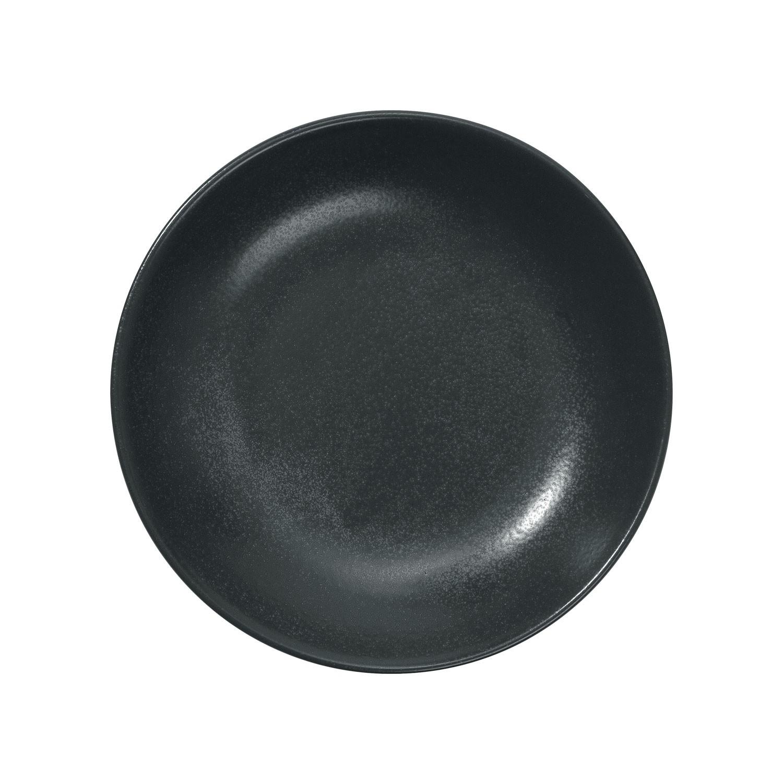 Talíř hluboký Masca, 21 cm - černá