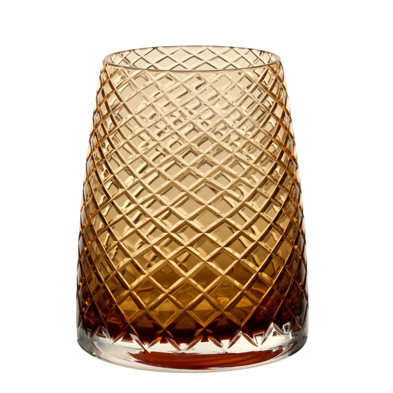 Křišťálové sklenice Divida, jantarová