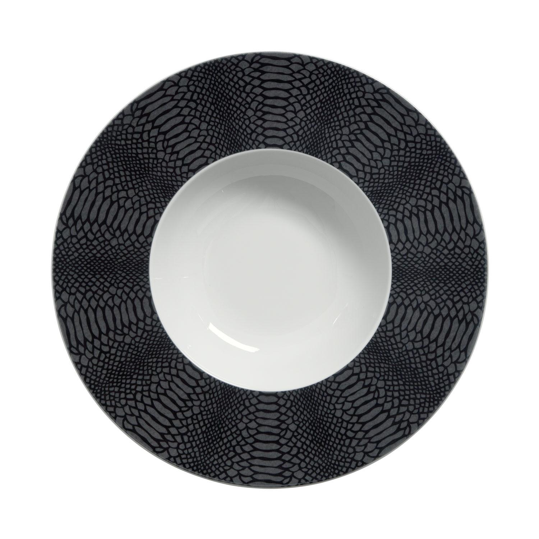 Talíř hluboký Siam, černý