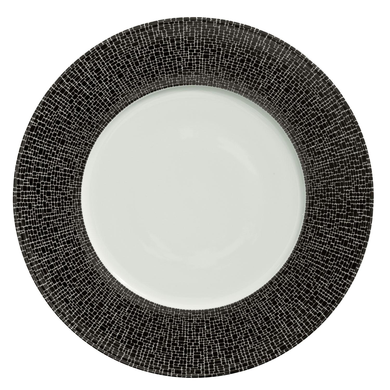 Talíř plochý Trazado, černý