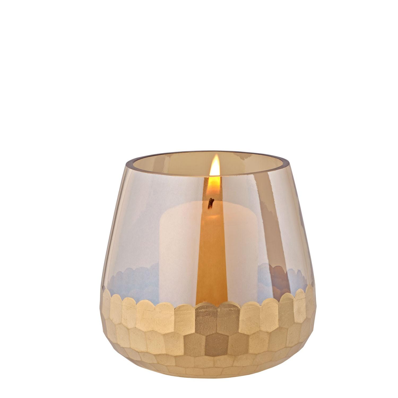 Zlatý skleněný svícen, malý