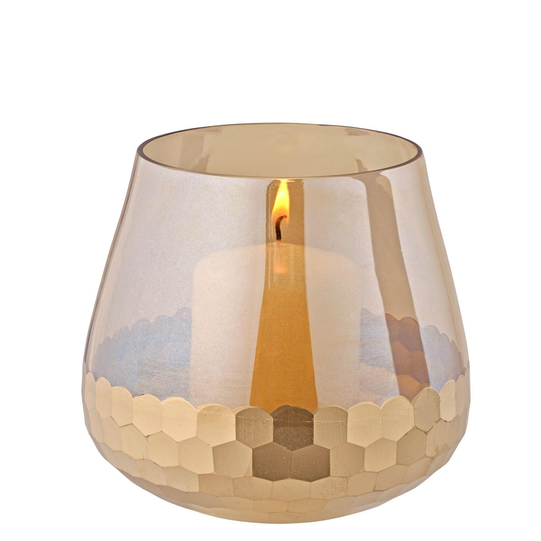 Zlatý skleněný svícen, střední