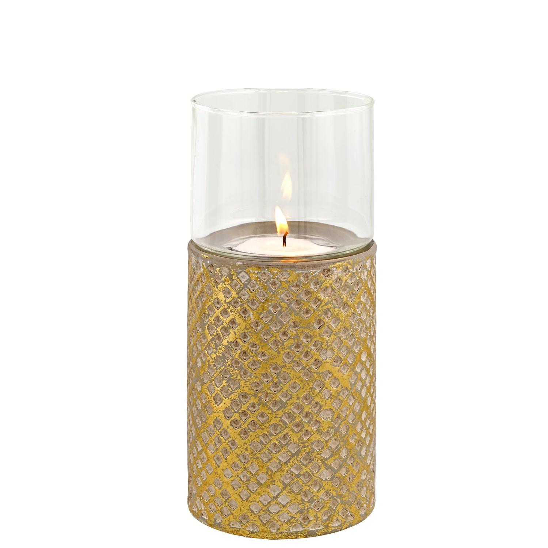 Keramický svícen zlatý, malý