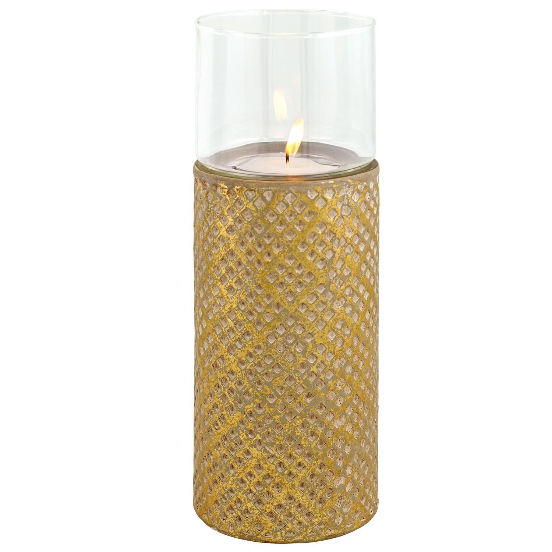 Keramický svícen zlatý, velký