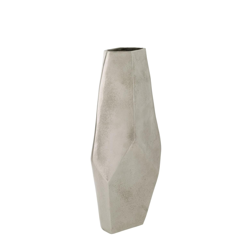 Stříbrná hliníková váza, malá | 70015