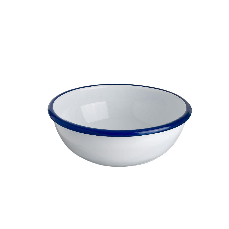 Miska kulatá Luni, 16 cm - bílá/modrá