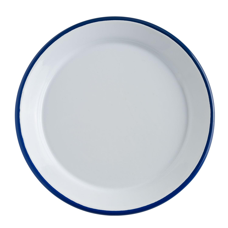 Talíř plochý Luni, 25 cm - bílá/modrá
