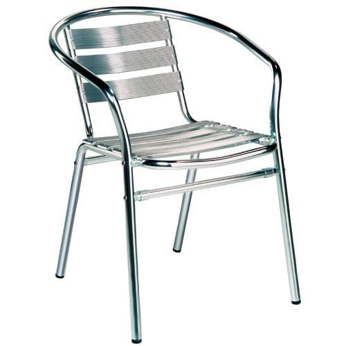 Alu židle s područkami