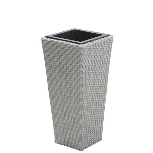 Obal na květináč, šedá, 25x25x55cm