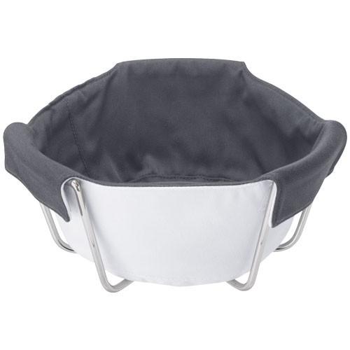 Textilní vložka do košíku Attilio, bílá/šedá