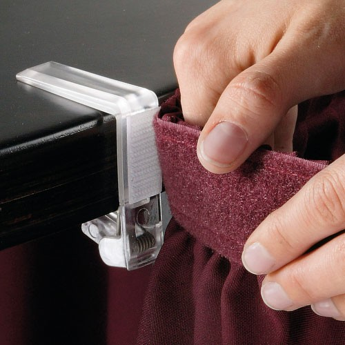 Klip k uchycení rautové sukně
