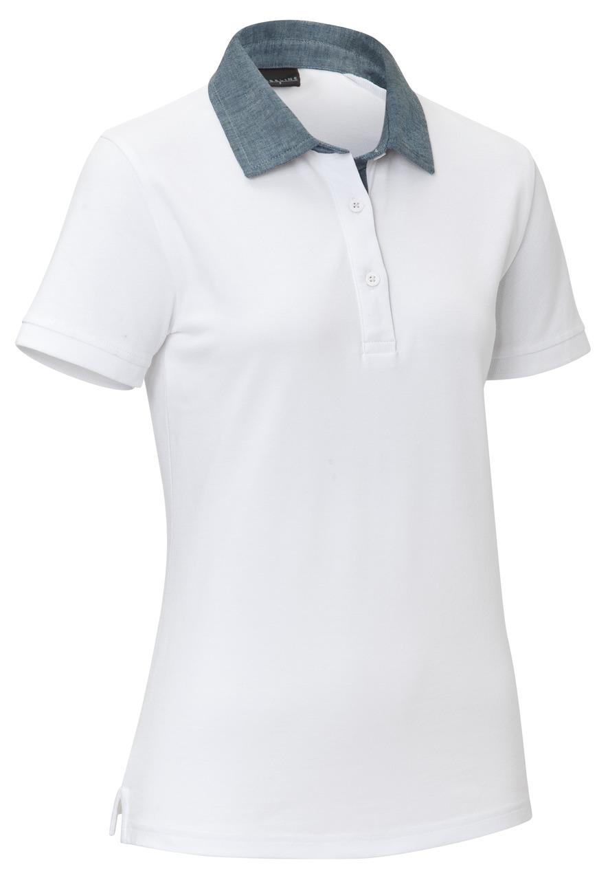 Dámské polo triko Cato Chambray, bílá