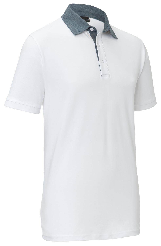 Pánské polo triko Cato Chambray, bílá