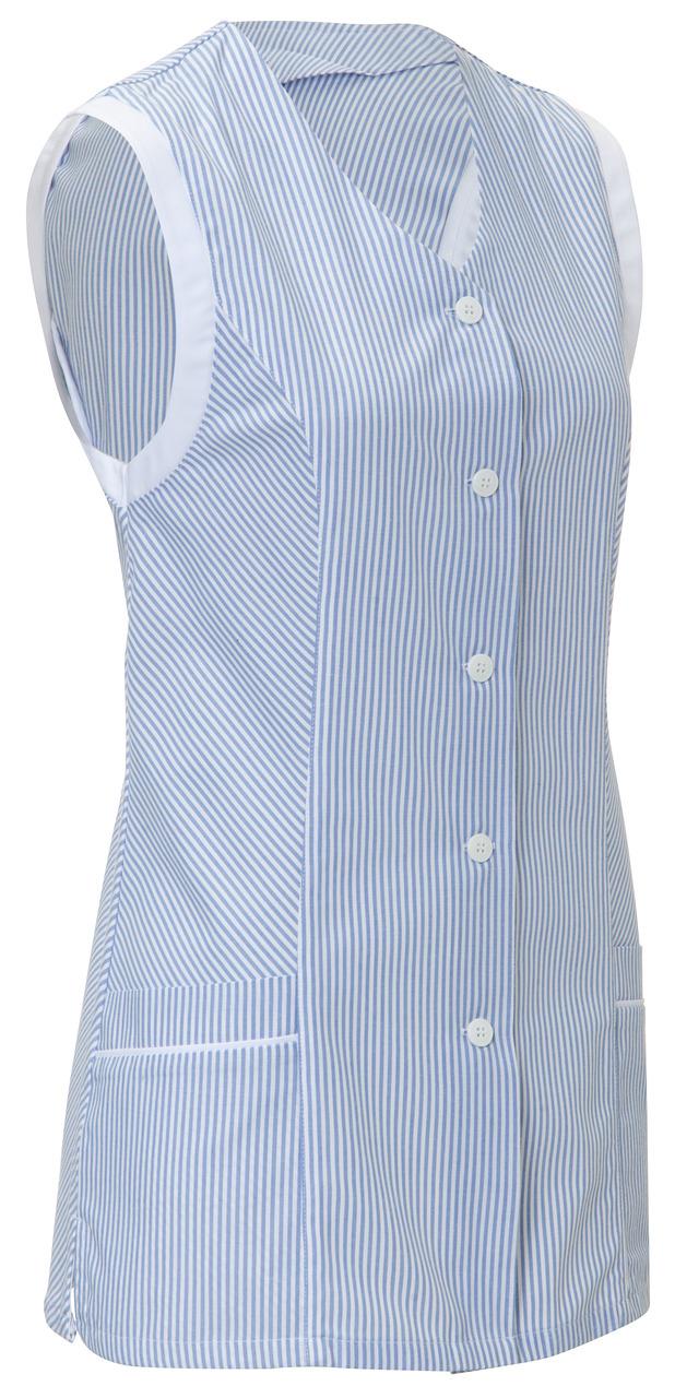 Dámská tunika Kaya, bez rukávů - modrá/bílá