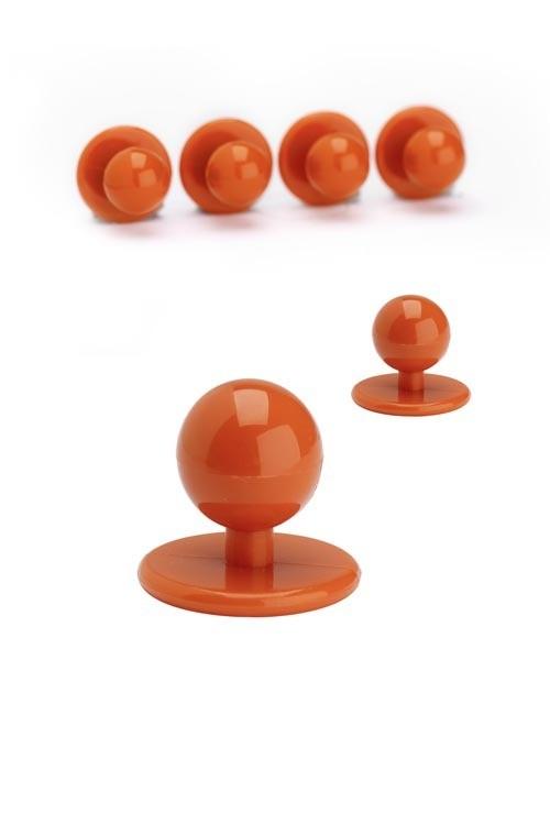 Knoflíky ke kuchařským rondonům -  oranžová