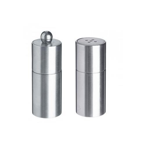 Solnička a mlýnek na pepř Metalo, 2,5x7,5 cm