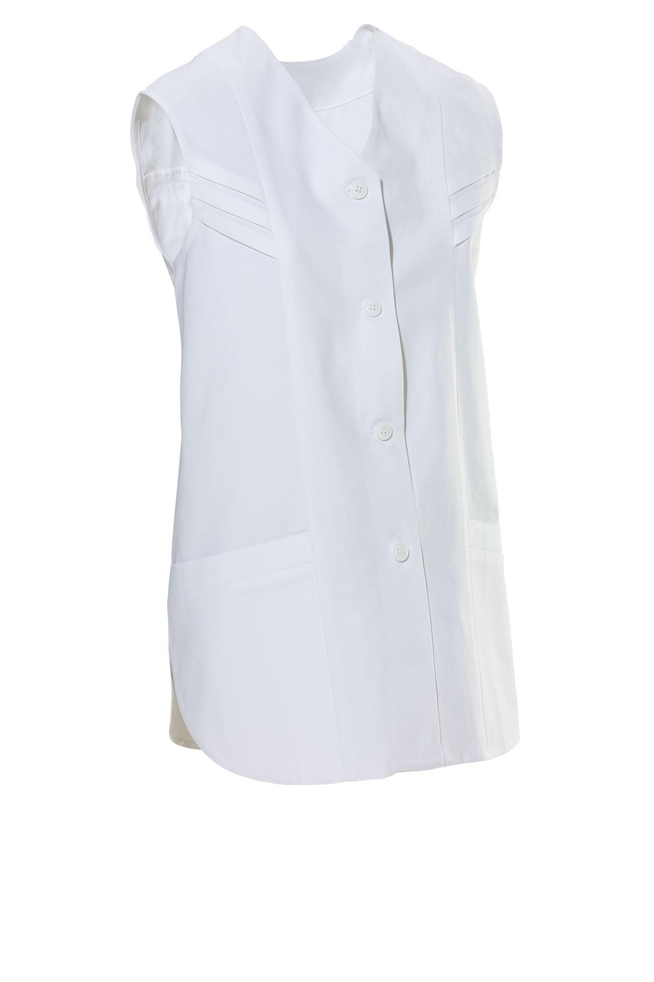 Dámská tunika Nadja, bez rukávů - bílá