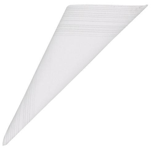 Papírové ubrousky s okrajem - bílá
