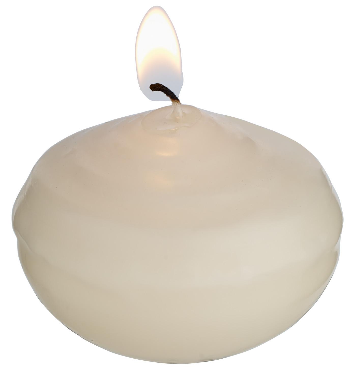 Plovoucí svíčky, krémová