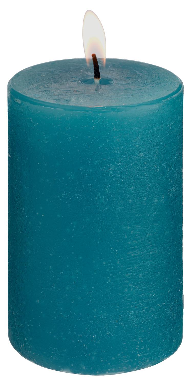 Svíčky Rustic - tyrkysová